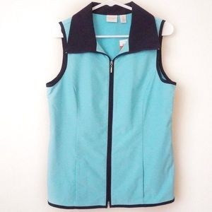 NWT Chico's bright teal vest size 0 Waterloo